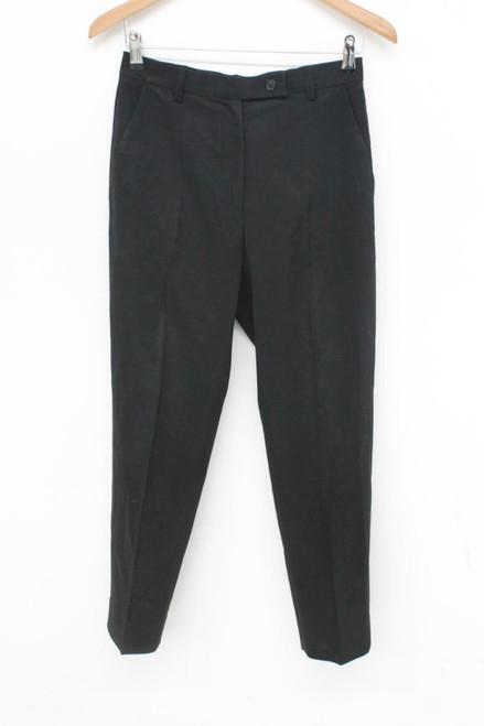 PRADA Ladies Classic Black Tailored Smart Formal Suit Trousers Size W28 L27