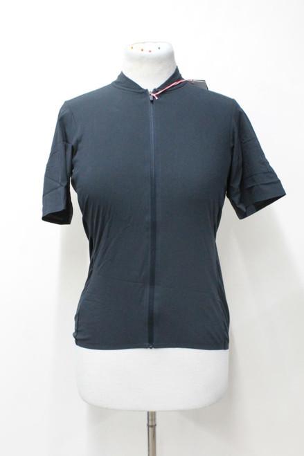 RAPHA Ladies Black Silk Flyweight Short Sleeve Zip Cycling Jersey Size M NEW