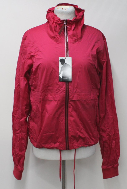 RAPHA Ladies Red Rain Bomber Waterproof Breathable Cycling Jacket Large BNWT