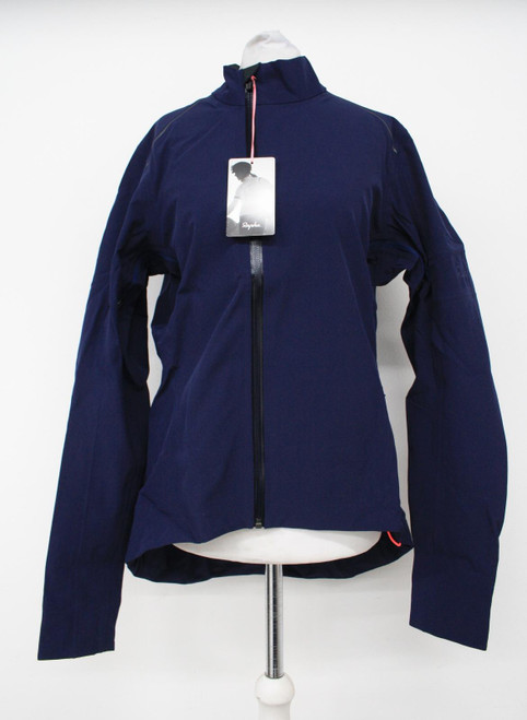 RAPHA Ladies Navy Blue Classic Zip Pockets Winter Cycling Jacket Size L NEW