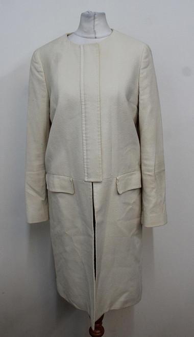 PAUL SMITH Black Ladies Ivory Long Sleeved Textured Crew Neck Jacket IT40 UK8