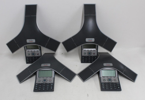 4 x CISCO 7937 Unified IP Conference Station LCD Display Business Telephones