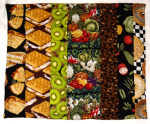 A set of 4 GrubDudz Placemats actually provides 8 Placemat options, given that the front and back have different patterns. Makes a great house-warming or holiday gift!