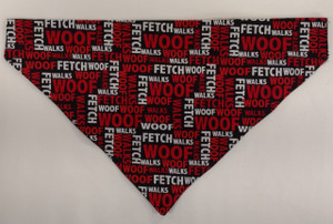 Size Extra-Extra-Large Bandana measures approximately 16.5 inches across the top. *Note: These measurements may vary slightly per piece.