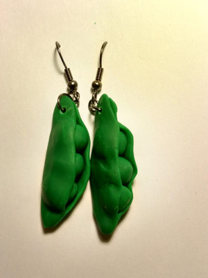 GrubDudz Pea Pod Earrings