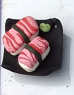 Sushi-Tray Shaped Magnet