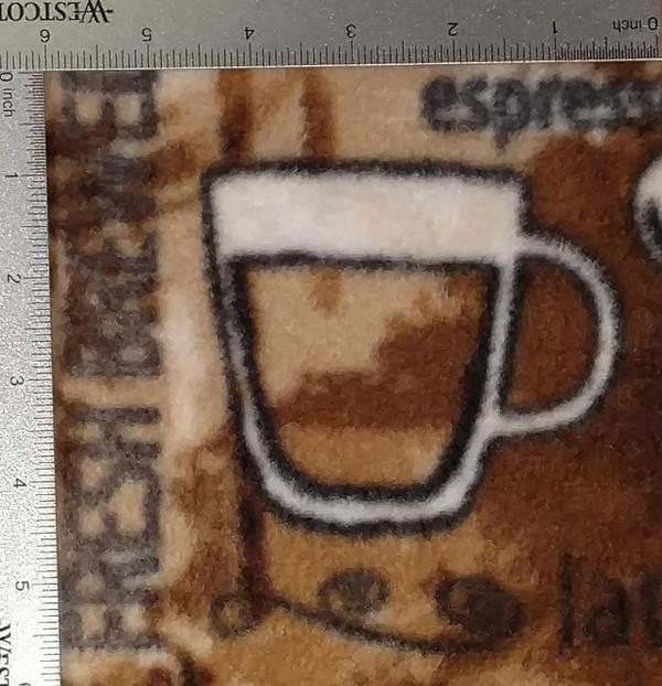 Coffee/Cappuccino Print Fleece