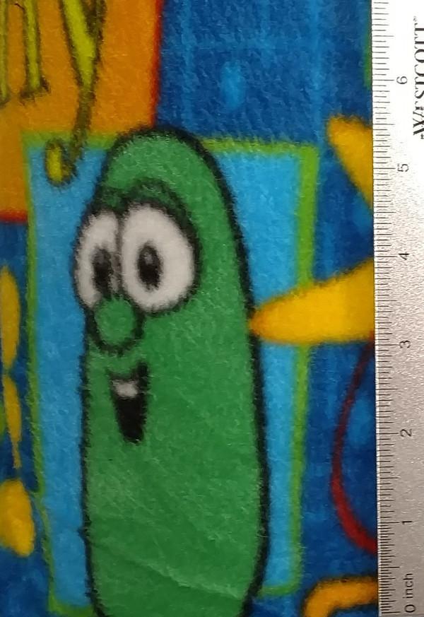 Veggie Tales on Blue Background Fleece