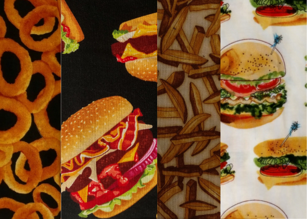 Burger, Fries, and Onion Rings Design