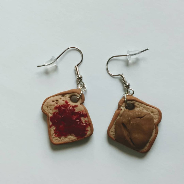 GrubDudz PB 'n J Earrings