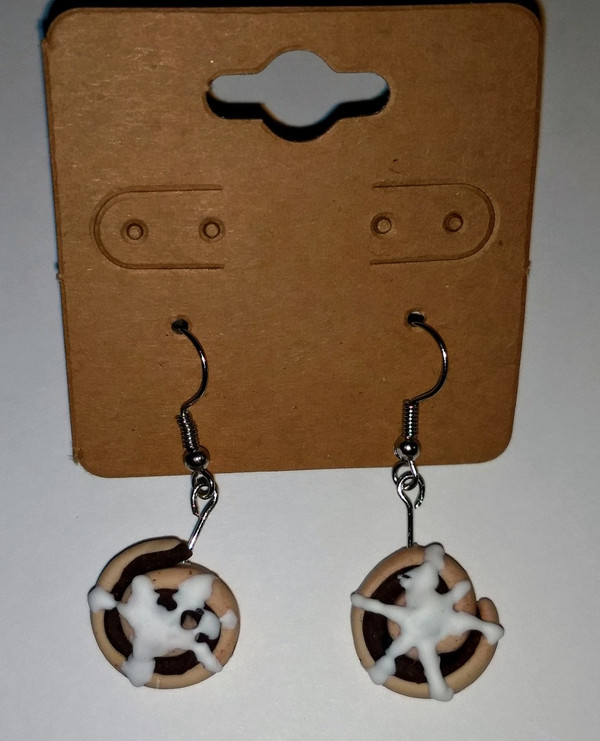 GrubDudz Cinnamon Roll Earrings