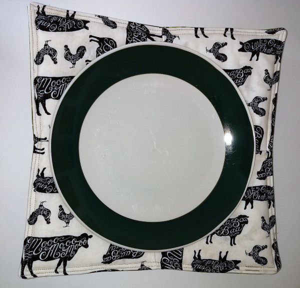 Microwave Plate Cozy - Large. Other side.