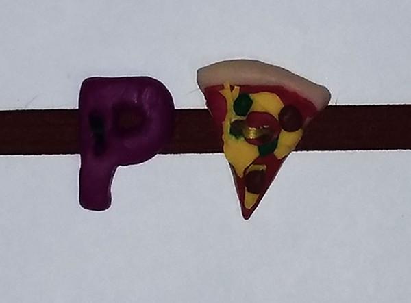 Pizza Label Close-up