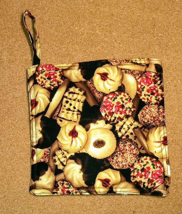 Christmas Cookie Print Potholder