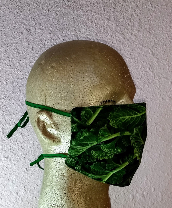 Side view of the O-kale Face Mask