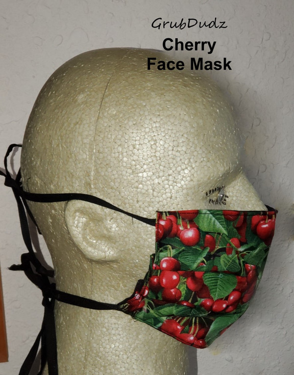 Side view of Cherry Face Mask
