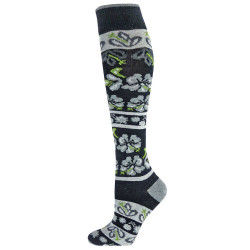Women's Gray Blossom Knee High Socks