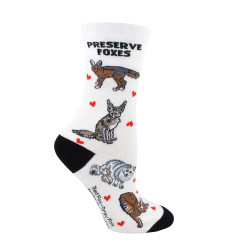 Women's Preserve Foxes Crew Socks