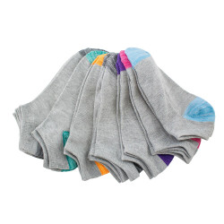Gray Out Anklet Socks 10 pair pack #10048 / Women's