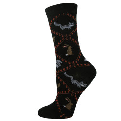 Women's Black Woodland Argyle Socks