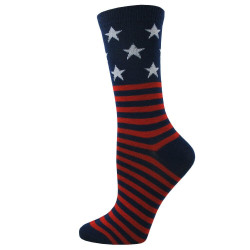 Women's Blue American Flag Stripe Socks