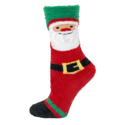 Women's Soft Santa Chenille Non Skid Slipper Socks