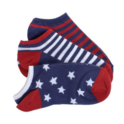 Americana 3 Pack No Show Socks / Women's