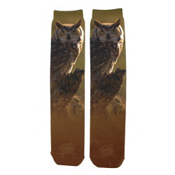 Horned Owl Sublimation Tube Socks