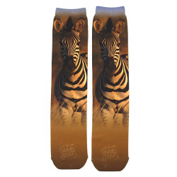 Zebra Sublimation Tube Socks