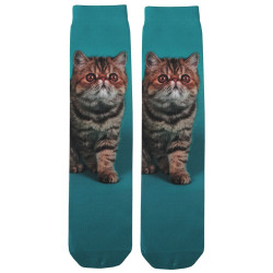 Exotic Cat Sublimation Tube Socks