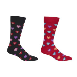Men's Candy Hearts Crew Socks