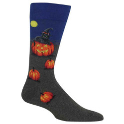 Men's Cat Witch Crew Socks