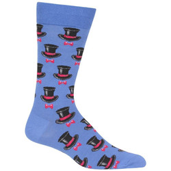 Men's Top Hat and Bow Tie Crew Socks
