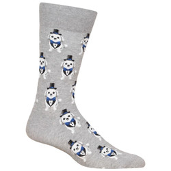 Men's Tuxedo Dog Crew Socks