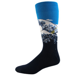 Men's The Great Wave Crew Socks