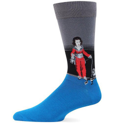 Men's Red Boy Crew Socks