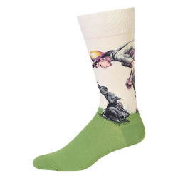 Men's Norman Rockwell Rabbit Crew Socks