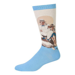 Men's Norman Rockwell Catching The Big One Crew Socks