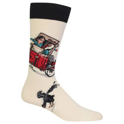 Men's Norman Rockwell Look Out Below Crew Socks