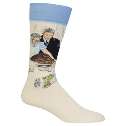 Men's Norman Rockwell Freedom from Want Crew Socks