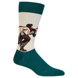 Men's Norman Rockwell's Ice Skating Race Crew Socks