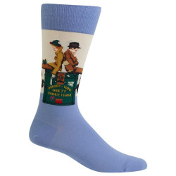 Men's Norman Rockwell Gaiety Dance Team Crew Socks