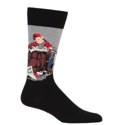 Men's Norman Rockwell Pen Pals Crew Socks