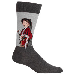 Men's Norman Rockwell A Country Gentleman Boy Crew Socks
