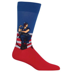 Men's Norman Rockwell Rosie the Riveter Crew Socks