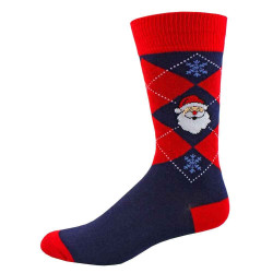 Men's Santa Argyle Crew Socks