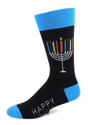 Colorful Menorah Socks