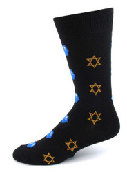 Mens Star of David & Dreidel Socks