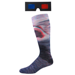 Men's 3D Shark Crew Socks