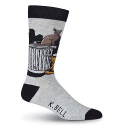 Men's Tom Cat Crew Novelty Socks